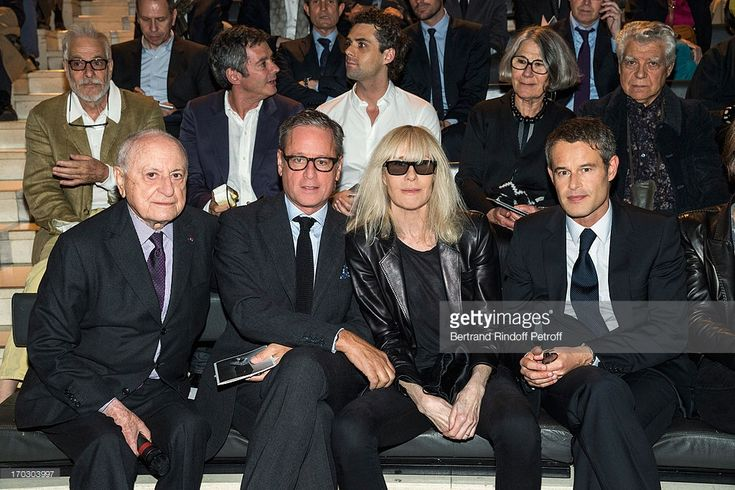 Pierre Berge, guest, Betty Catroux and Philippe Mugnier attend a tribute to late fashion designer Yves Saint Laurent at Opera Bastille on June 10, 2013 in Paris, France.