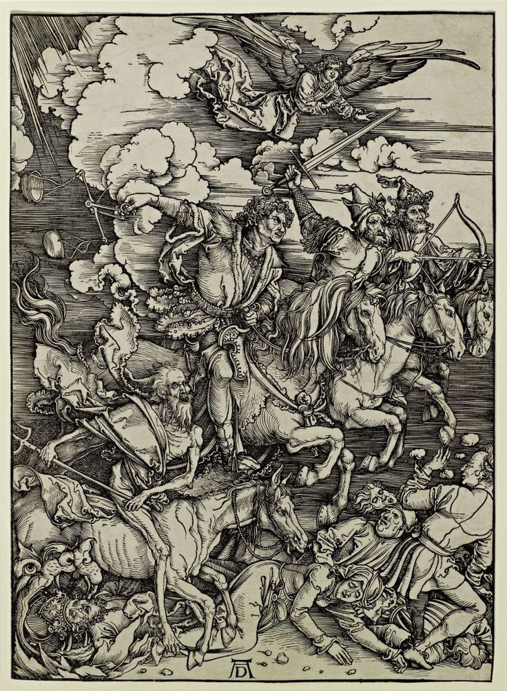 "Five hundred years of Satanic art - Albrecht Dürer, ""Four Horsemen of the Apocalypse"" (1498)"