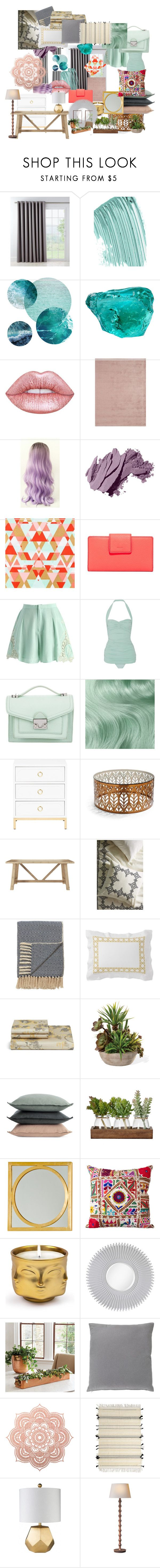 """""""2 Bailey Student Room Decor"""" by georgie-b on Polyvore featuring interior, interiors, interior design, home, home decor, interior decorating, Country Curtains, Chanel, Lime Crime and Bobbi Brown Cosmetics"""