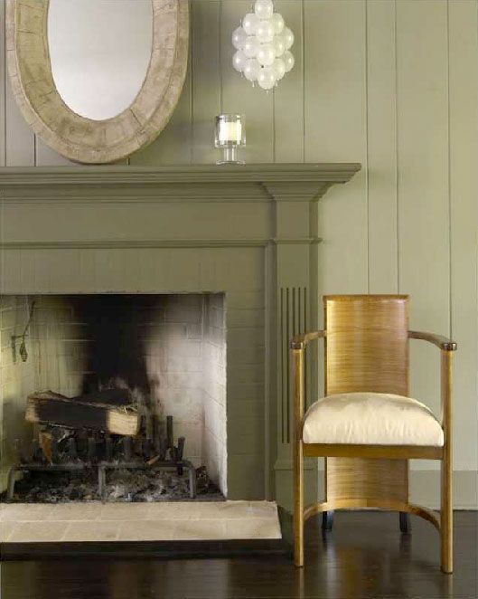 Sage Green Fireplace Design Decor By Mar Silver