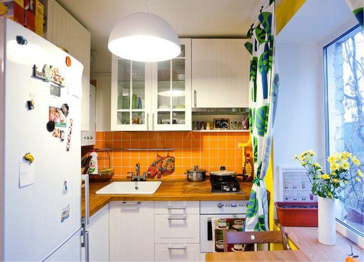 Кухня в хрущевке с Г-образной планировкой