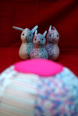 Bowling for bunnies. Would be fun for rainy days.