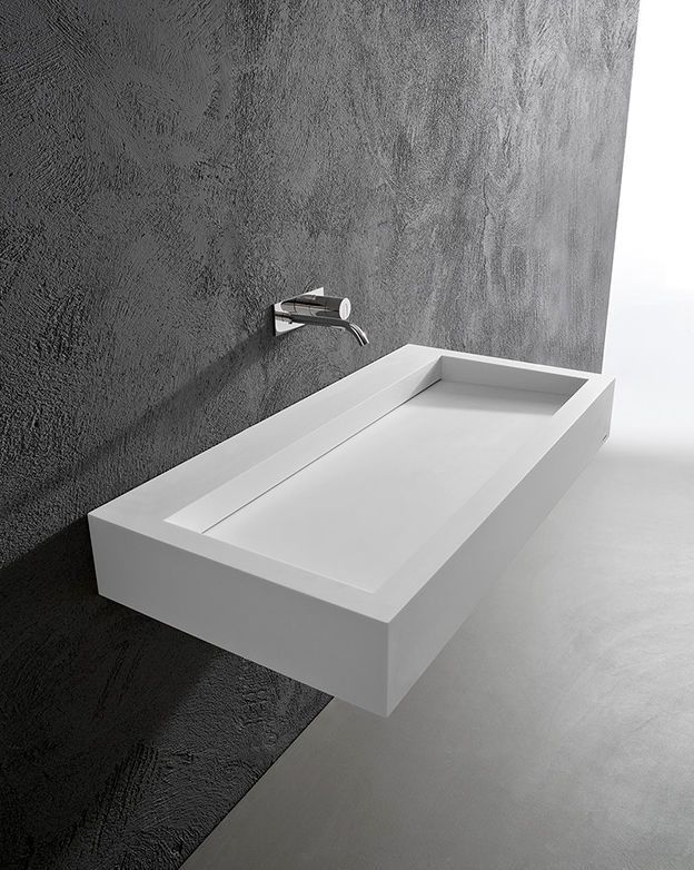 vasque suspendue carr e en corian contemporaine slot by nevio tellatin antonio lupi. Black Bedroom Furniture Sets. Home Design Ideas