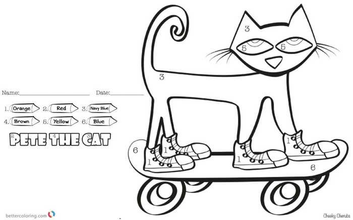 Cat Easy Color By Number Sheet Cat Coloring Page Cool Coloring Pages Coloring Pages Inspirational