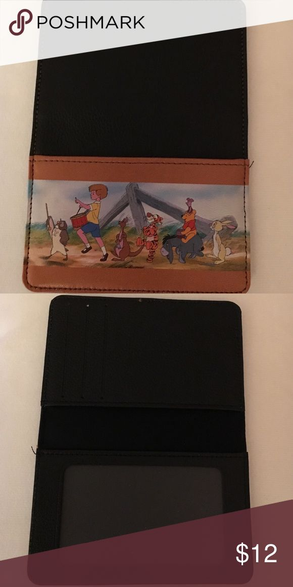 New all leather Disney credit/debit card holder Winnie the Pooh  All leather . 3 pockets. Never used. Accessories Key & Card Holders