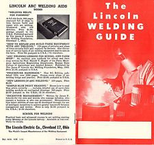 1953 Arc Welding Guide Lincoln Electric Co Cleveland Shielded Arc Electrodes