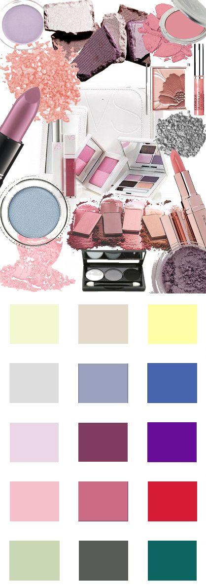 Make-up kleuren voor het Zomertype. Kleuren en Kleurcombinaties voor kleding haar en make-up #kledingkleuren www.coloru.nl
