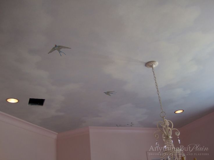 17 best images about painted ceilings on pinterest how for Cloud mural ceiling