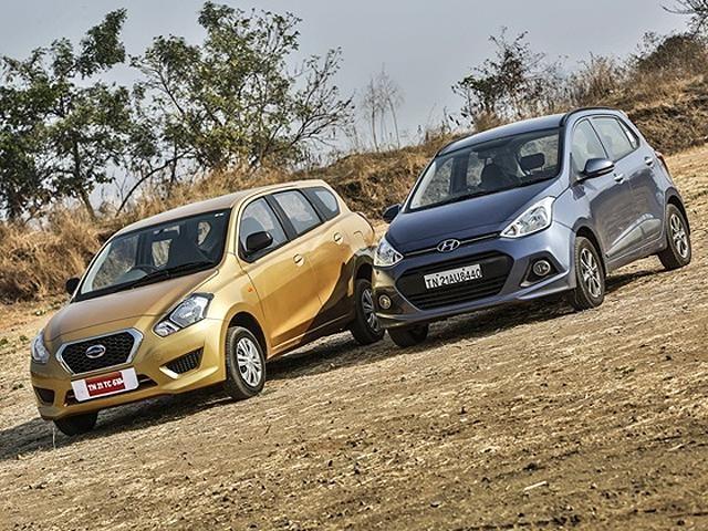 Slideshow : Datsun Go Plus versus Hyundai Grand i10 - Datsun Go Plus versus Hyundai Grand i10: Comparison Review - The Economic Times