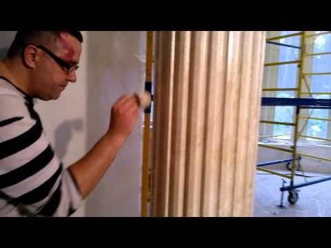 делаем мраморную колону из сантехнической трубы в энергоэфективном доме - YouTube