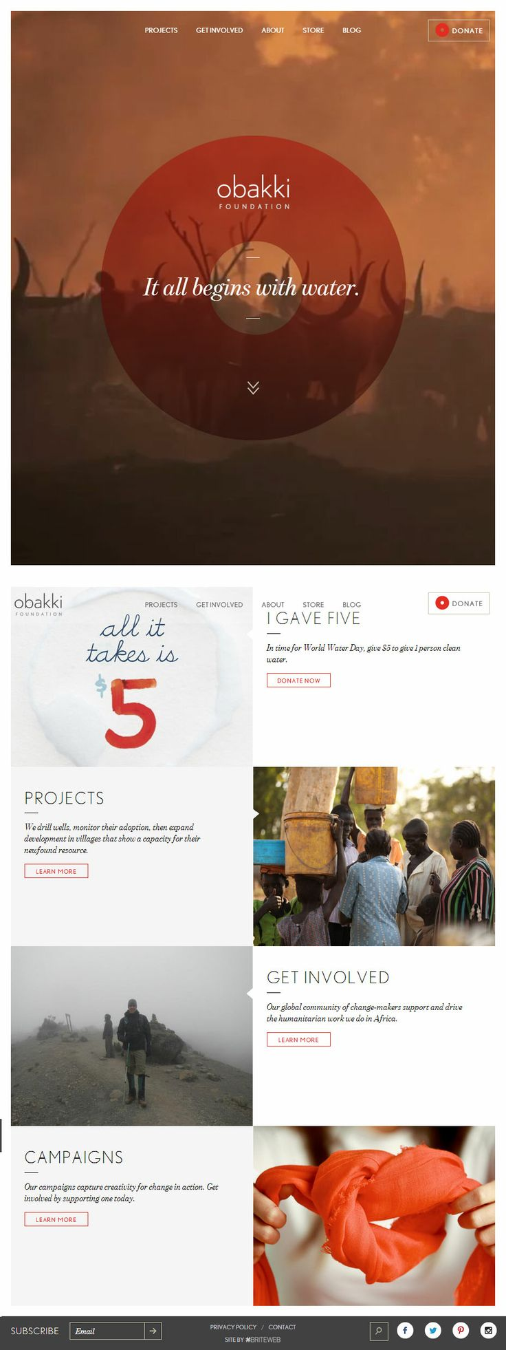 Obakki Foundation, March 22, 2014. http://www.awwwards.com/web-design-awards/obakki-foundation #UI #Scroll #WebDesign #Inspiration #Clean #HTML5