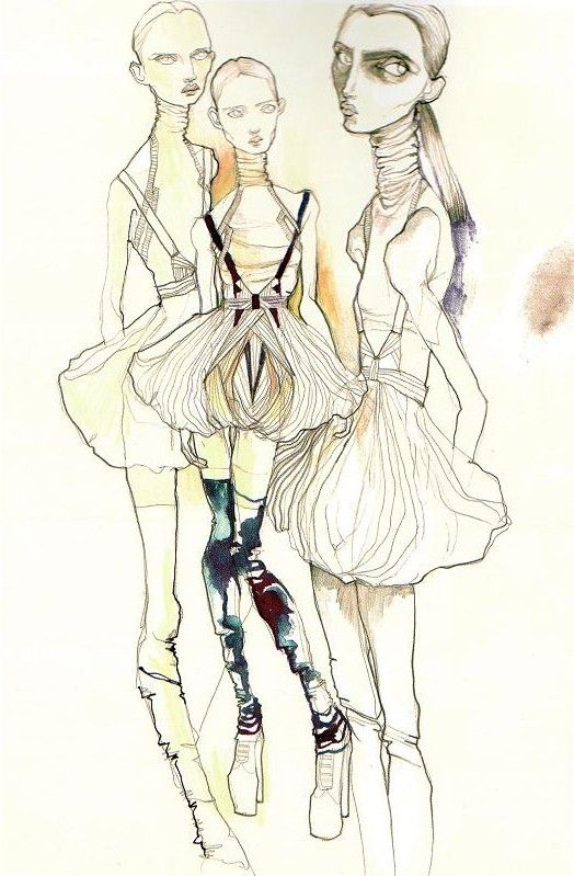 Molly Grad fashion Illustration