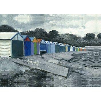 Wall Art & Printed Canvas - Briscoes - Kiwiana Titahi Bay Boat Sheds Wall Art