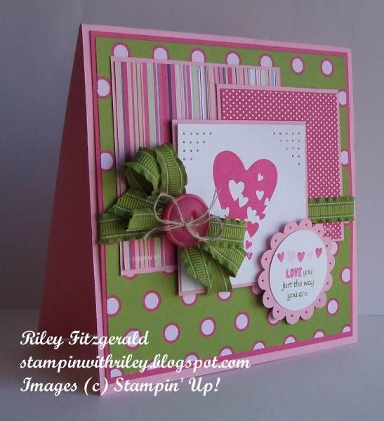 stampin upColors Combos, Polka Dots, Cute Cards, Cards Ideas, Color Combos, Sprinkles Express, Paper Crafts, Heart Cards, Stampin Up Cards