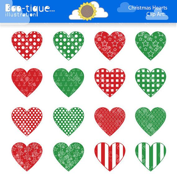 Christmas Hearts Clipart for Instant Download. Christmas Hearts Clip Art. Xmas clip art. Christmas Clipart. Red Hearts. Green Hearts Clipart...