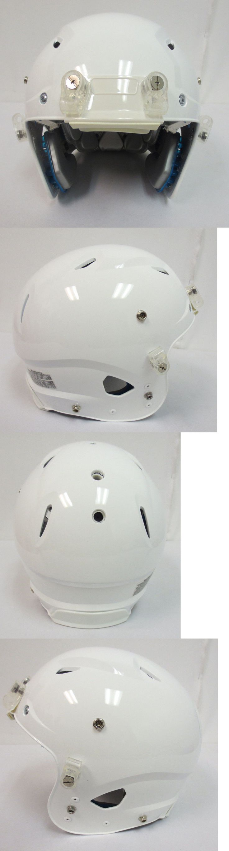 Helmets and Hats 21222: Schutt New White Blue Nfl Football Game Helmet Adult Mens Medium Protective Gear -> BUY IT NOW ONLY: $89.95 on eBay!