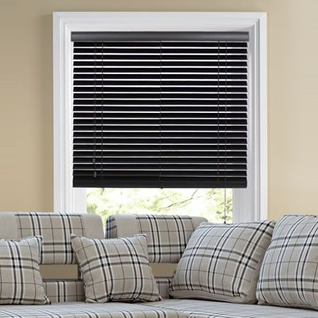 Stylish Ecowood, Black Gloss Wood Blind.  #home decor #blinds #247 #black