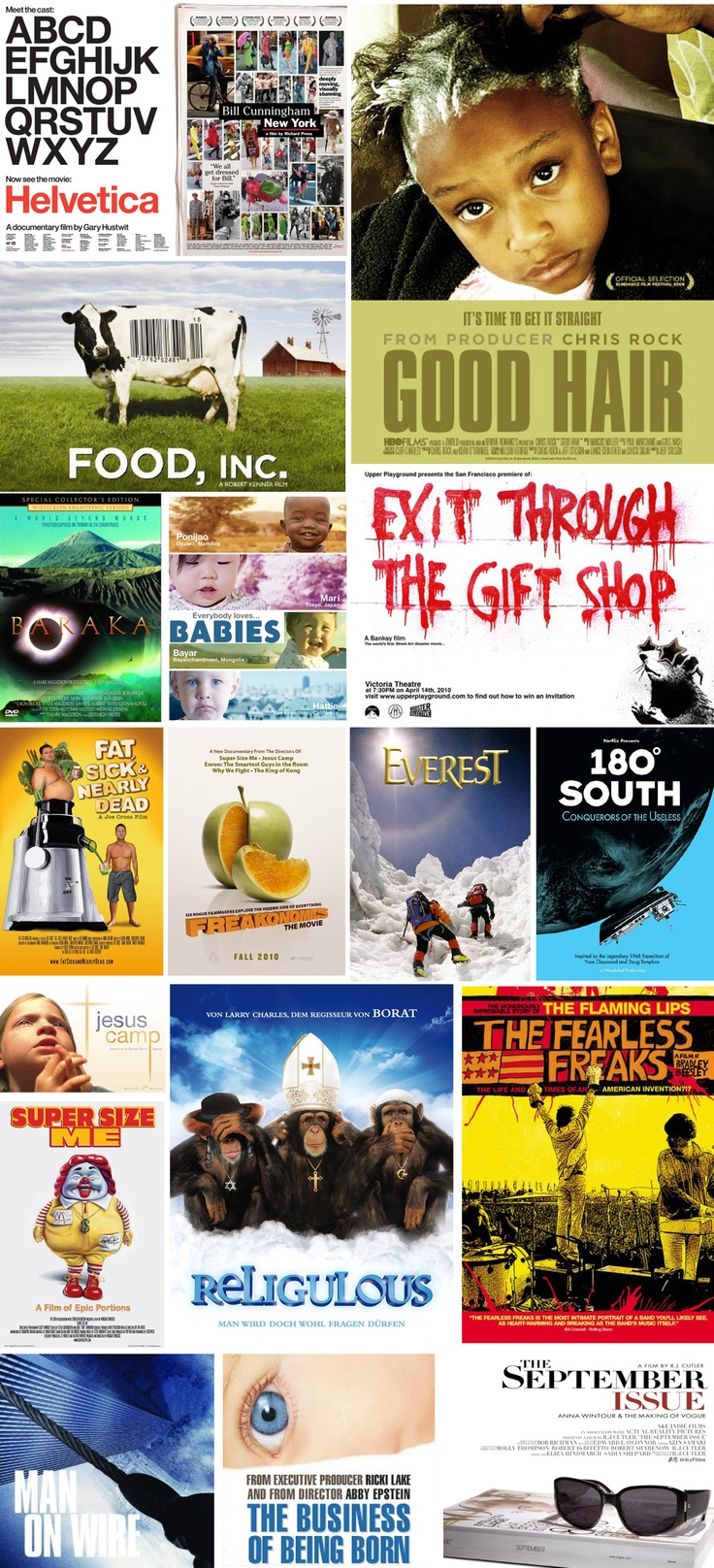 A list of documentaries to watch