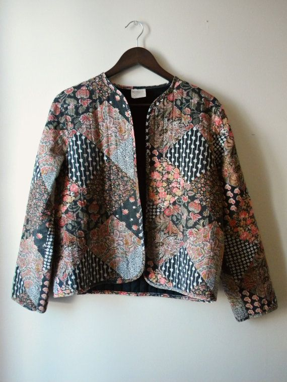 Vintage BOHO Open Quilted Jacket. $12.00, via Etsy.
