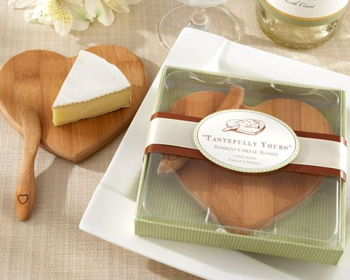 Tastefully Yours Heart Shaped Bamboo Cheese Board