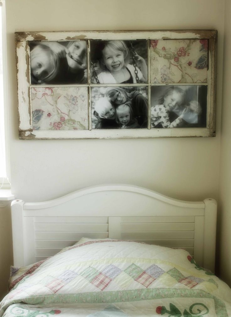 old window picture frame ....