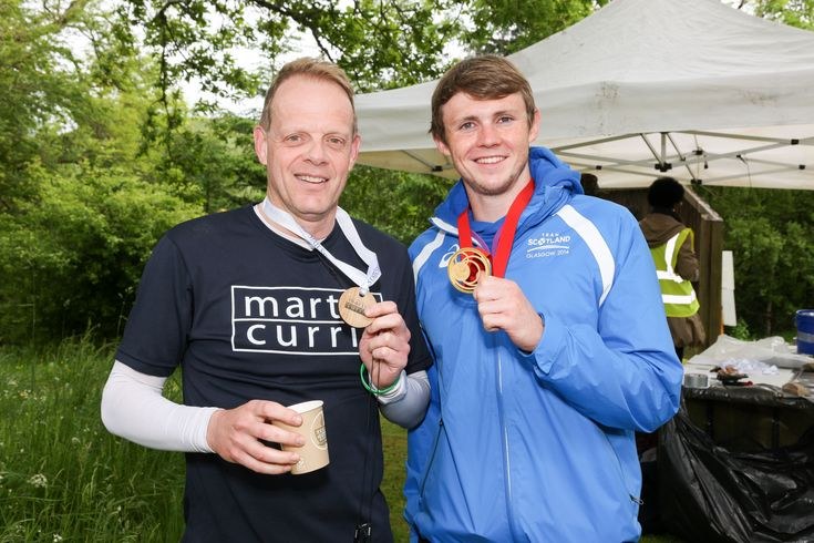 John Pickard, Head of Investment at Martin Currie (left) and Ross Murdoch, Scottish Swimmer, Gold Medalist for 200m Breaststroke at the 2014 Commonwealth Games in Glasgow (right)