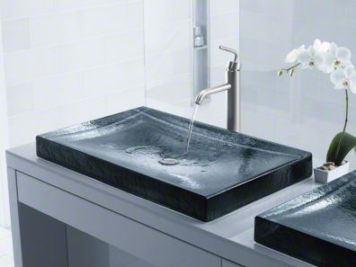 Kohler Antilia Wading Pool glass bathroom sink in Ice contemporary style bathroomdesign 48 best Bathroom Sinks Faucets images on Pinterest