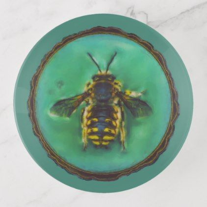 Wool Carder Bee Trinket Trays - home gifts ideas decor special unique custom individual customized individualized