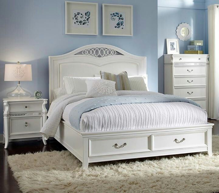 17 best images about bedroom on pinterest master - White bedroom furniture for girl ...