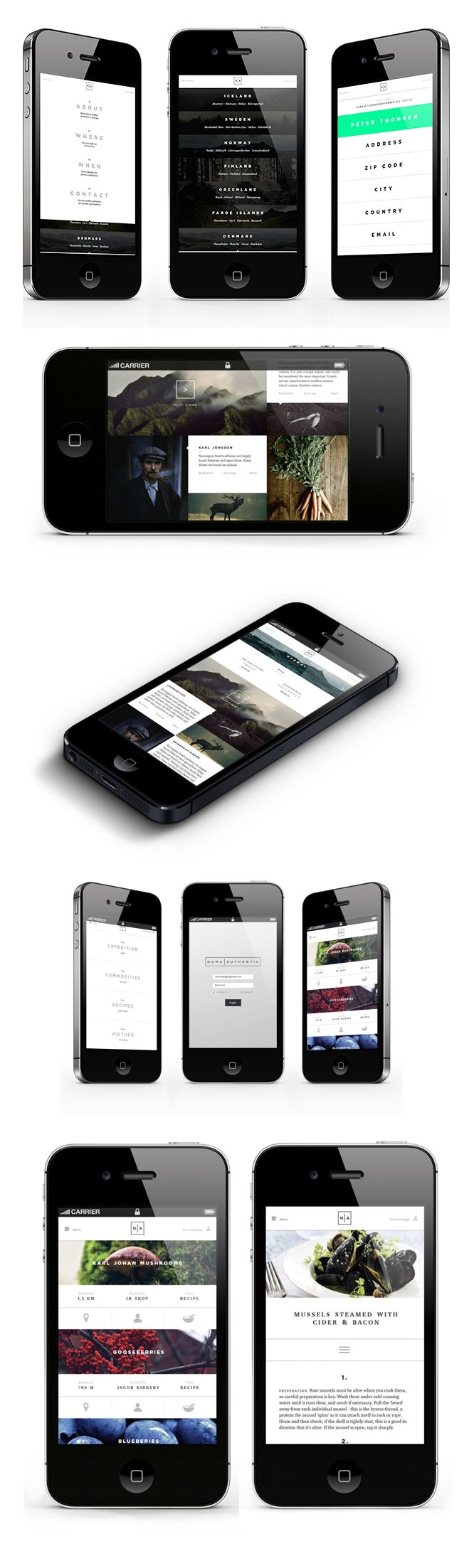 APP design. UI mobile