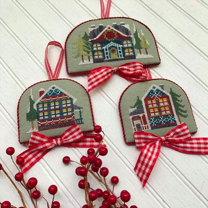 NEW Wreath House counted cross stitch patterns by Hands on Design at thecottageneedle.com by thecottageneedle
