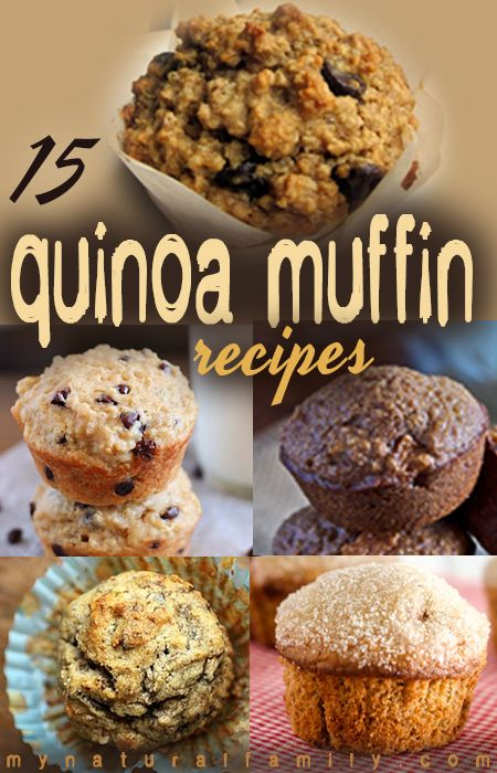 more sweet quinoa??!! this is one band wagon i may have to jump on! 15 of the Best Quinoa Muffin Recipes