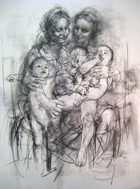 Jenny Saville   Reproduction drawing IV (after the Leonardo cartoon) (2010)   Artsy