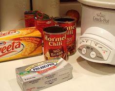 An American Housewife: Hormel Chili Based Nacho Dip (Very Popular!!)