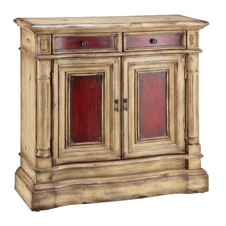 Found it at Wayfair - 2 Door Cabinet in Distressed Red ...