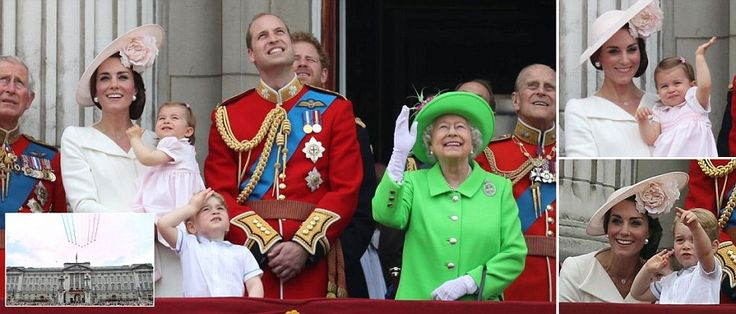 Trooping the Colour begins for the Queen's official 90th birthday with thousands attending