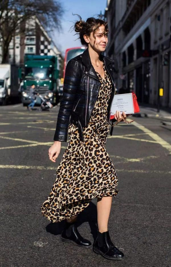 e7ddc9fbbec6 Fall Fashion Trend  Leopard Print. Add an edgier vibe to your leopard print  with a leather jacket and leather boots.  fashiontrends