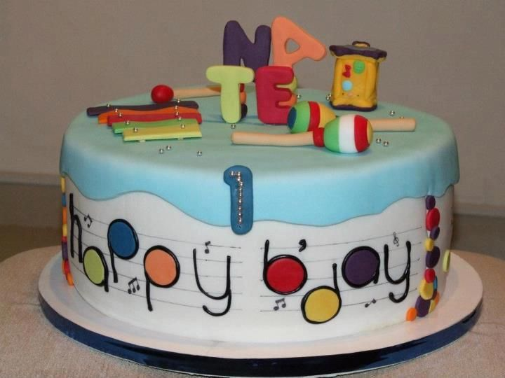 Cake Decorations Musical Instruments : 17 Best images about music cakes on Pinterest Children ...