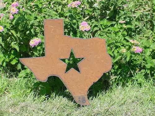 Texas Western Metal Garden Stake