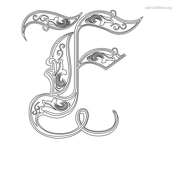 Decorative Stencil Letter F