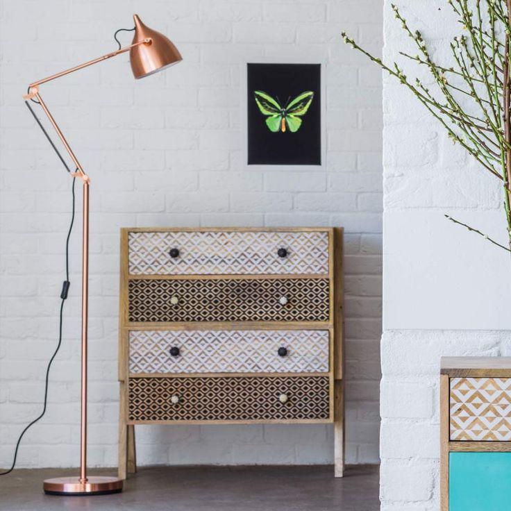 Witt Copper Floor Lamp