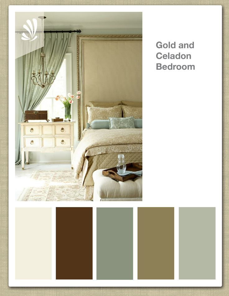 Gold Celadon Cream Butterscotch Color Palette Elegant
