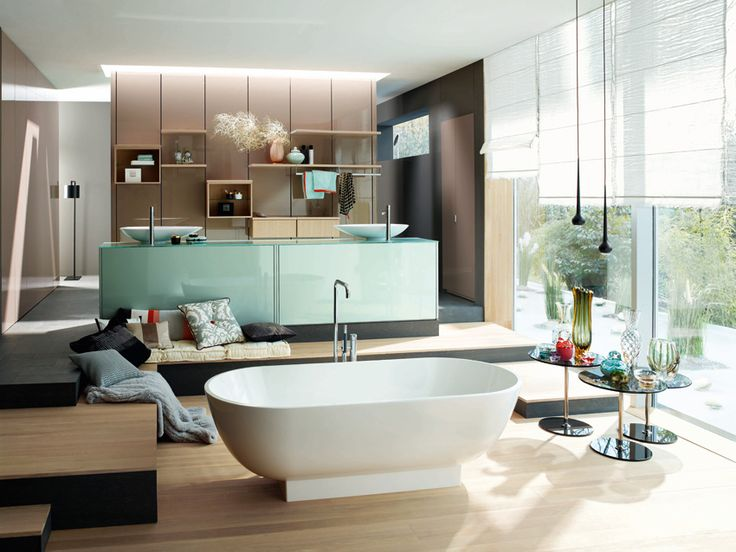 Plus qu'une collection de meubles, le programme RC40 de Burgbad est un système d'aménagement de la salle de bains.