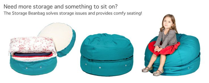 Beanbags with storage?  Yes, please.