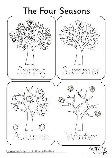 four seasons handwriting worksheet coloring pages seasons worksheets seasons lessons. Black Bedroom Furniture Sets. Home Design Ideas