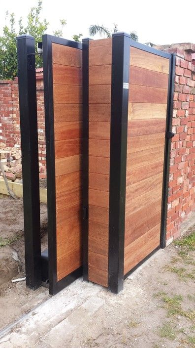 Merbau Sliding Gate And Pedestrian Gate Fitted With Faac