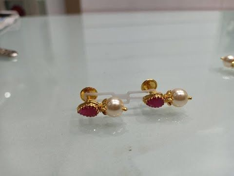 574293499 Latest simple light weight dailywear small gold earring designs - YouTube