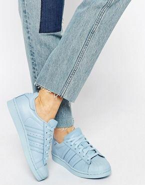 adidas originals shell pharrell williams supercolor bleu ciel /light blue   ELLES SONT JUSTE MAGNIFAIQUE MA CHEWIIIE !!!!!
