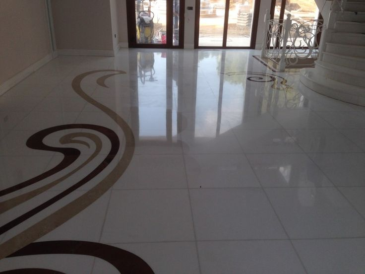 Thassos marble extra. New floor with high glossing after our treatment
