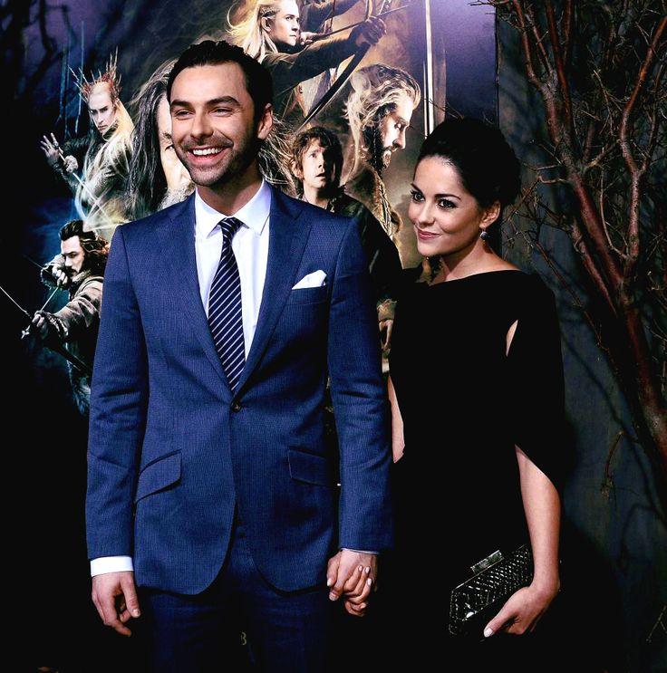 "aidanturner-daily:  Aidan Turner & Sarah Greene at the ""The Hobbit-DoS"" L.A World Premiere - (03.12.2013)"